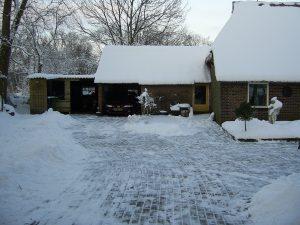 Garage ook sneeuwvrij